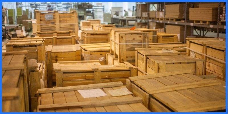 Vorrat in Kisten