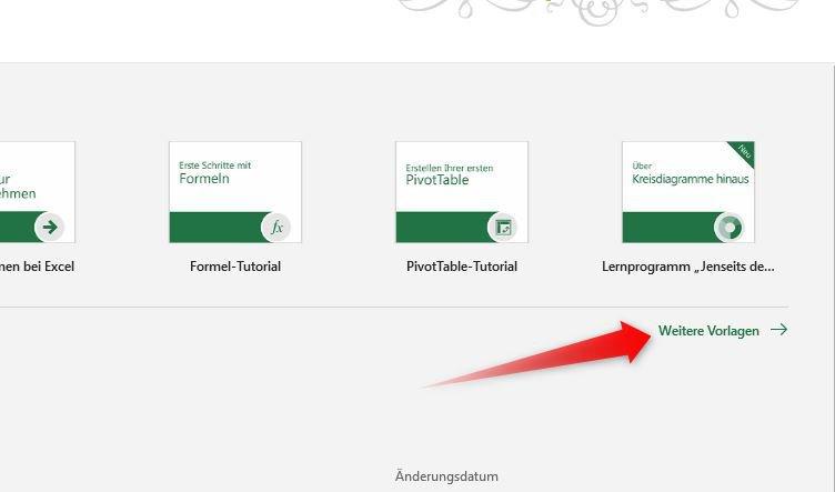 Rechnung schreiben mit Microsoft Excel - Vorlagenauswahl