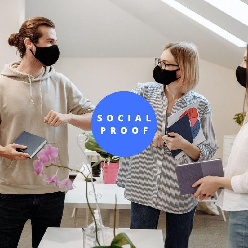 social proof auf landingpages