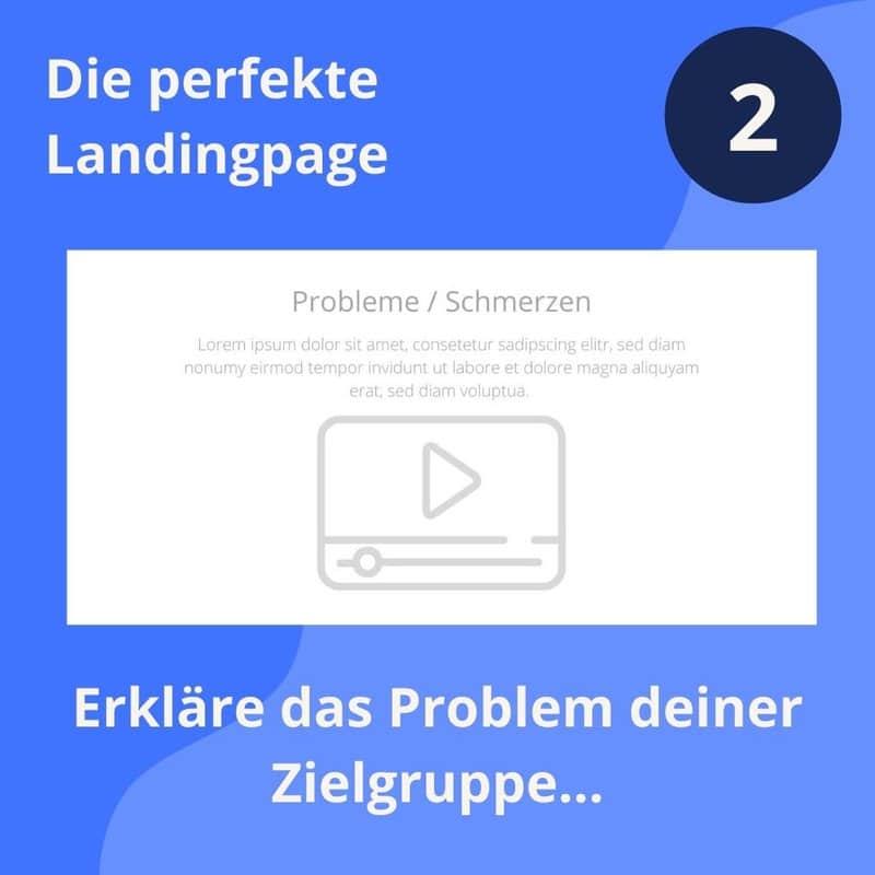 perfekte landingpage das problem