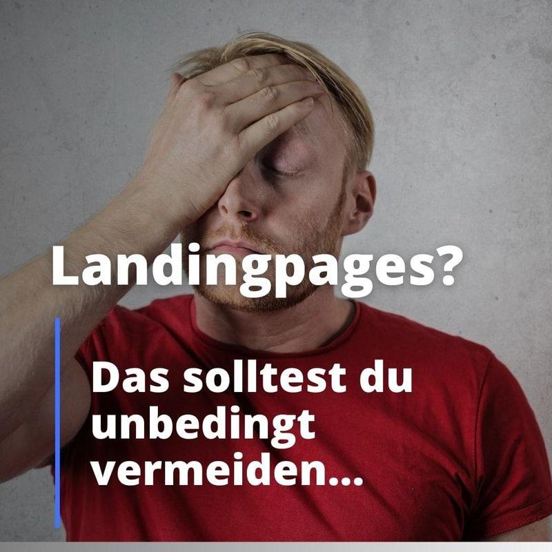 Landingpage das solltest du vermeiden