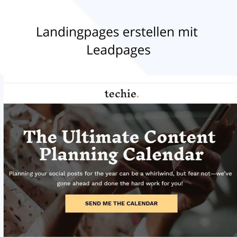 landingpages erstellen mit leadpages
