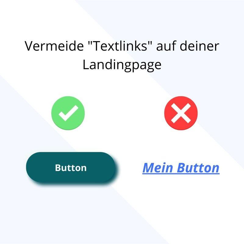 textlinks auf landingpage