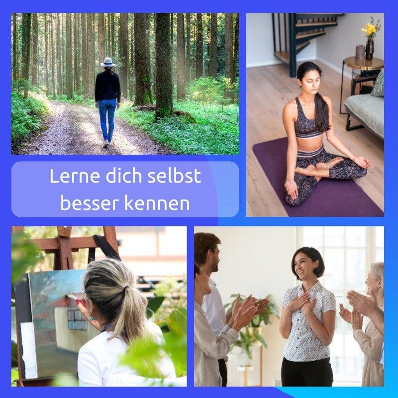 Selbsterkenntnis Bilder - Meditation, Spaziergang, Malerei, Feedback