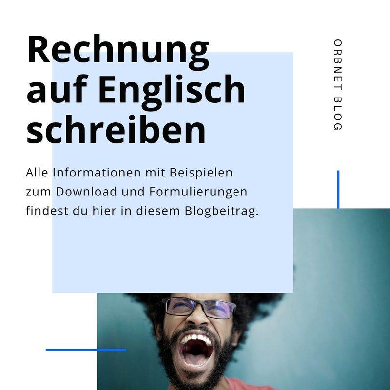 Rechnung auf Englisch schreiben Blog Intro